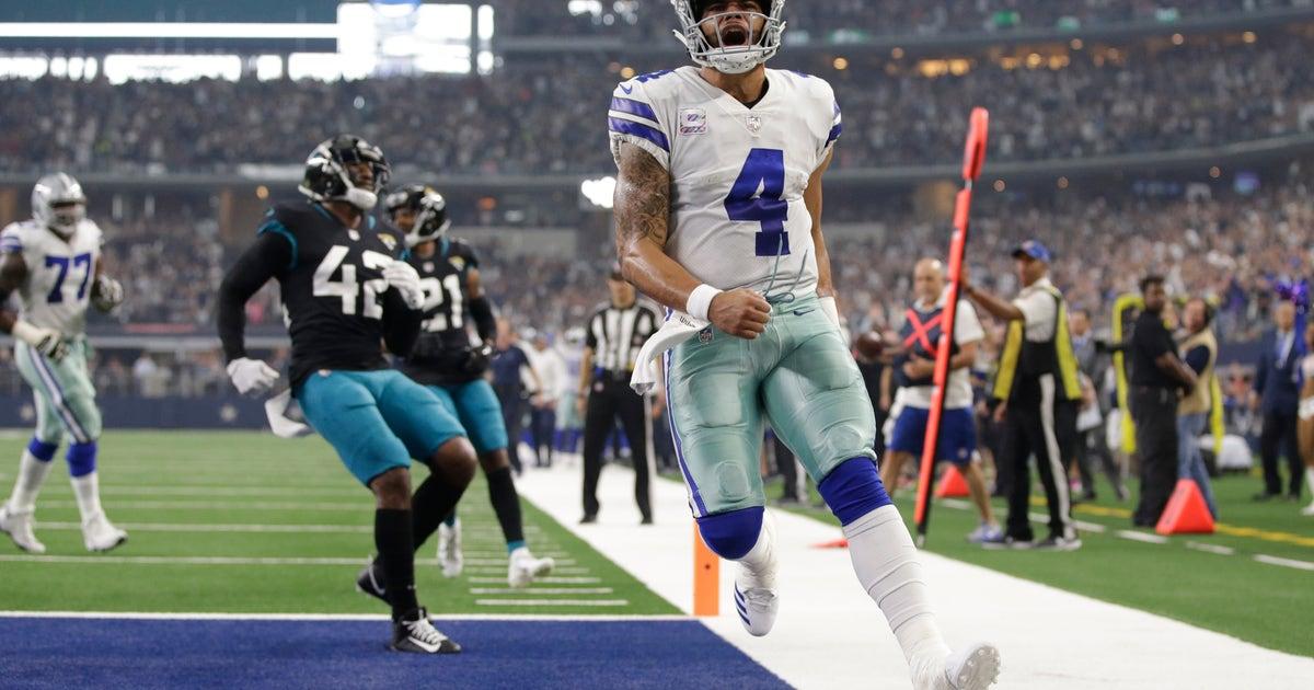 Prescott, Cowboys pack punch with pass, rout Jaguars 40-7