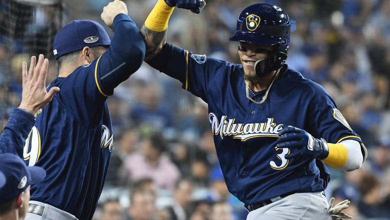Chacin, Brewers blank Dodgers to take 2-1 lead in NLCS