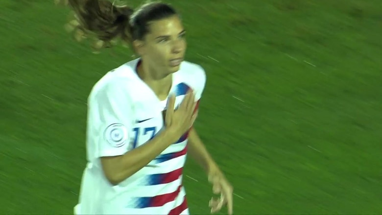 Tobin Heath opens scoring in 2nd minute for USWNT against Jamaica | 2018 CONCACAF Women's Championship