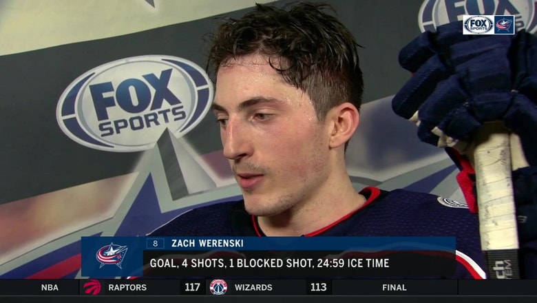 Zach Werenski talks about the challenges of facing a hot goalie
