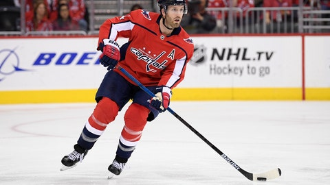 <p>               FILE - In this Oct. 19, 2018, file photo, Washington Capitals defenseman Brooks Orpik skates with the puck during the third period of an NHL hockey game against the Florida Panthers, in Washington. Orpik underwent arthroscopic surgery on his right knee and is expected to miss four to six weeks. The team announced the surgery and time frame Tuesday, Nov. 20, 2018. (AP Photo/Nick Wass, File)             </p>