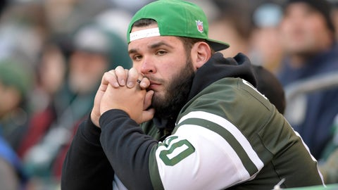 <p>               FILE - In this Nov. 12, 2018, file photo, a New York Jets fan reacts during the fourth quarter of an NFL football game against the Buffalo Bills, in East Rutherford, N.J. By the time head coach Todd Bowles walked off the field at MetLife Stadium and disappeared into the tunnel, many Jets fans figured that was the last time they'd see him on their team's sideline. Not yet. (AP Photo/Bill Kostroun, File)             </p>