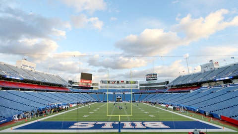 <p>               FILE - In this Oct. 29, 2018, file photo, New Era Field is prepared before an NFL football game between the Buffalo Bills and the New England Patriots, Monday, in Orchard Park, N.Y. The owners of the Bills and Buffalo Sabres have hired consulting and architectural firms to study the future needs of both teams' facilities. (AP Photo/Jeffrey T. Barnes, File)             </p>