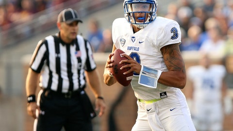 <p>               FILE - In this Aug. 31, 2017, file photo, Buffalo quarterback Tyree Jackson (3) looks to pass during an NCAA college football game against Minnesota in Minneapolis. Jackson credits his older sister for never allowing the University at Buffalo quarterback to ever get too far ahead of himself.  (AP Photo/Stacy Bengs, FIle)             </p>