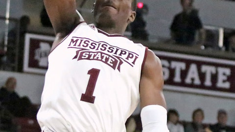 <p>               Mississippi State forward Reggie Perry (1) dunks during the first half of san NCAA college basketball game against Alcorn State, Monday, Nov. 26, 2018, in Starkville, Miss. (AP Photo/Jim Lytle)             </p>