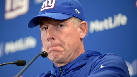 <p>               FILE - In this Oct. 28, 2018, file photo, New York Giants head coach Pat Shurmur answers questions during a news conference after the Washington Redskins beat the New York Giants 20-13 in an NFL football game, in East Rutherford, N.J. The Giants are (1-7). Their next game is Monday, Nov. 12 against the San Francisco 49ers.  (AP Photo/Bill Kostroun, File)             </p>