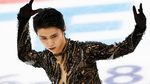 <p>               FILE - In this Nov. 17, 2018, file photo, Yuzuru Hanyu of Japan performs in the men's free skating during the ISU Grand Prix of Figure Skating Rostelecom Cup in Moscow, Russia. Two-time Olympic champion Hanyu of Japan will miss the Grand Prix of Figure Skating Final due to a right ankle injury, the Japan Skating Federation announced on Thursday, Nov. 29. (AP Photo/Alexander Zemlianichenko, File)             </p>