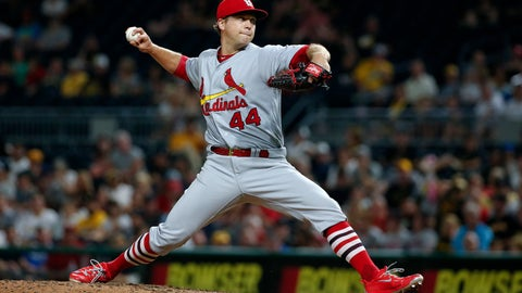 <p>               FILE - In this July 14, 2017 file photo, St. Louis Cardinals relief pitcher Trevor Rosenthal delivers during the eighth inning of a baseball game against the Pittsburgh Pirates in Pittsburgh. Two people familiar with the deal tell The Associated Press that righty reliever Rosenthal and the Washington Nationals have agreed to a contract for 2019, subject to a successful physical. The people spoke Wednesday, Oct. 31, 2018, on condition of anonymity because the team had not announced an agreement. Rosenthal missed all of last season after Tommy John surgery on his pitching elbow in 2017. (AP Photo/Gene J. Puskar, File)             </p>