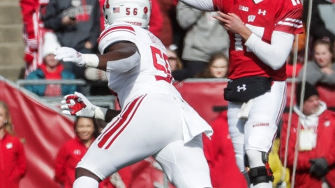 <p>               Wisconsin's Jack Coan throws during the second half of an NCAA college football game against Rutgers Saturday, Nov. 3, 2018, in Madison, Wis. (AP Photo/Morry Gash)             </p>