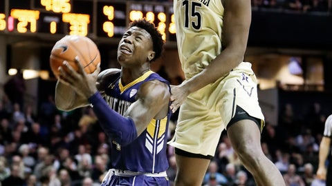 <p>               Kent State guard Antonio Williams, left, shoots as he is defended by Vanderbilt forward Clevon Brown (15) in the first half of an NCAA college basketball game Friday, Nov. 23, 2018, in Nashville, Tenn. (AP Photo/Mark Humphrey)             </p>