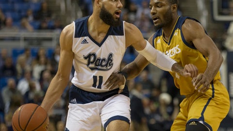 <p>               Nevada forward Cody Martin (11) is guarded by California Baptist guard Milan Acquaah (0) in the first half of an NCAA college basketball game in Reno, Nev., Monday, Nov. 19, 2018. (AP Photo/Tom R. Smedes)             </p>