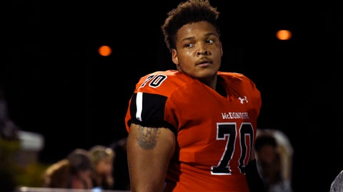 <p>               FILE - In this Sept. 16, 2016, file photo, McDonogh high school football lineman Jordan McNair watches from the sideline during a game in McDonogh, Md. Maryland has fired two trainers that were involved in the treatment of Jordan McNair after he collapsed on the field and subsequently died of heatstroke. Maryland has not formally announced the decision and has never named the trainers, but The Associated Press reported in August Wes Robinson and Steve Nordwall had been placed on leave.  (Barbara Haddock Taylor/The Baltimore Sun via AP, File)/The Baltimore Sun via AP)             </p>