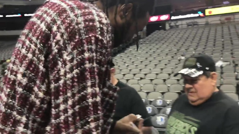 DeAndre Jordan meets with soldiers   Seats For Soldiers Night