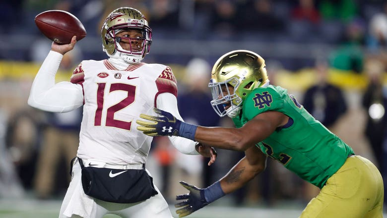 Seminoles can't hang with No. 3 Irish on frosty night in Notre Dame Stadium