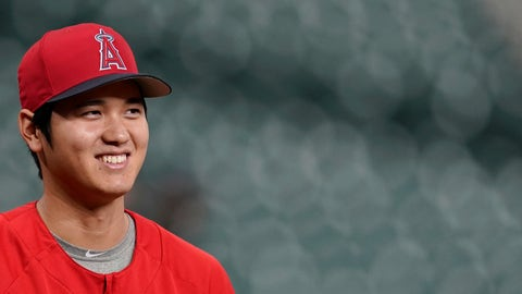 <p>               In this Sept. 21, 2018 photo Los Angeles Angels' Shohei Ohtani, of Japan, waits to stretch during batting practice before a baseball game against the Houston Astros in Houston. Ohtani has been voted American League Rookie of the Year after becoming the first player since Babe Ruth with 10 homers and four pitching wins in the same season. Ohtani, a 24-year-old right-hander who joined the Angels last winter after five seasons with Japan's Nippon Ham Fighters, received 25 first-place votes and four seconds for 137 points from the Baseball Writers' Association of America in balloting announced Monday, Nov. 12, 2018. (AP Photo/David J. Phillip)             </p>