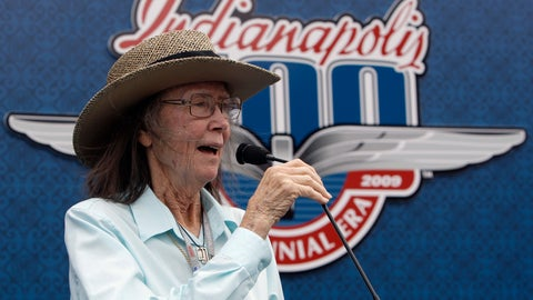 <p>               FILE - In this May 24, 2009 file photo, Mari Hulman George, chairman of the board of the Indianapolis Motor Speedway, gives the command to start engines at the start the 93rd running of the Indianapolis 500 auto race at the Indianapolis Motor Speedway in Indianapolis.  Hulman George, chairman of the board emeritus of the Indianapolis Motor Speedway, died early Saturday, Nov. 3, 3018. She was 83. Indianapolis Motor Speedway announced Hulman George's death early Saturday in a statement and said her family was by her side.(AP Photo/Darron Cummings)             </p>