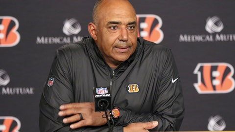 <p>               FILE - In this Oct. 28, 2018, file photo, Cincinnati Bengals head coach Marvin Lewis speaks during a press conference following an NFL football game in Cincinnati. The Bengals missed out on the playoffs again last season because their offense ranked last in the league. At the midpoint this year, they face another daunting challenge: a defense that's historically bad. (AP Photo/Gary Landers, File)             </p>
