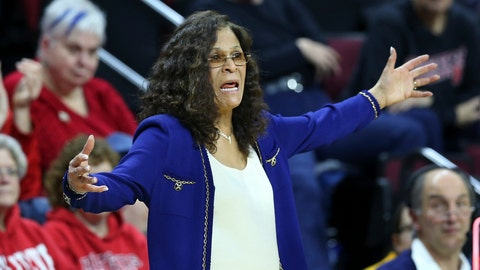 <p>               FILE - In this Feb. 18, 2016, file photo, Rutgers coach C. Vivian Stringer shouts to her players during the second half of an NCAA college basketball game against Michigan State, in Piscataway, N.J. Stringer is one victory away from becoming the fifth Division I women's basketball coach to reach 1,000 victories. She'll get her first chance to join the exclusive club Tuesday night, Nov. 13, 2018, against Central Connecticut State. (AP Photo/Mel Evans, File)             </p>