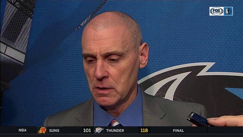 Rick Carlisle is proud of the defensive effort by Dallas