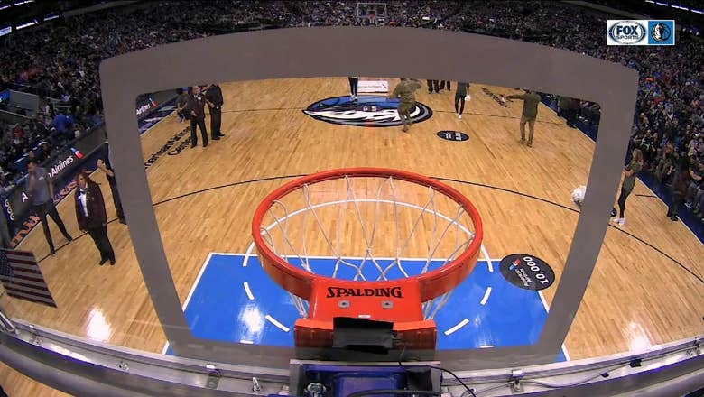 Soldier DUNKS in Fatigues and Combat Boots   Mavs Live