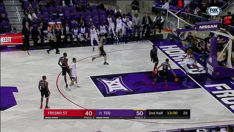WATCH: TCU's Desmond Bane with SICK fast break dunk | TCU vs. Fresno State