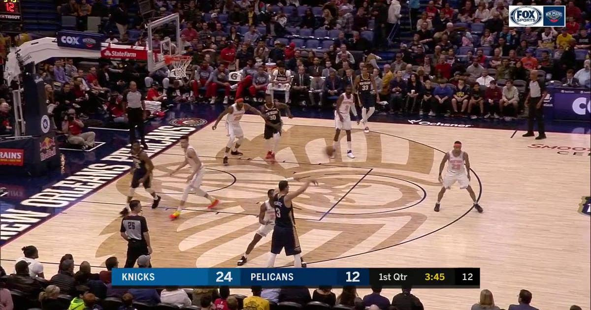 HIGHLIGHTS: Jrue Holiday assist to Julius Randle for the dunk