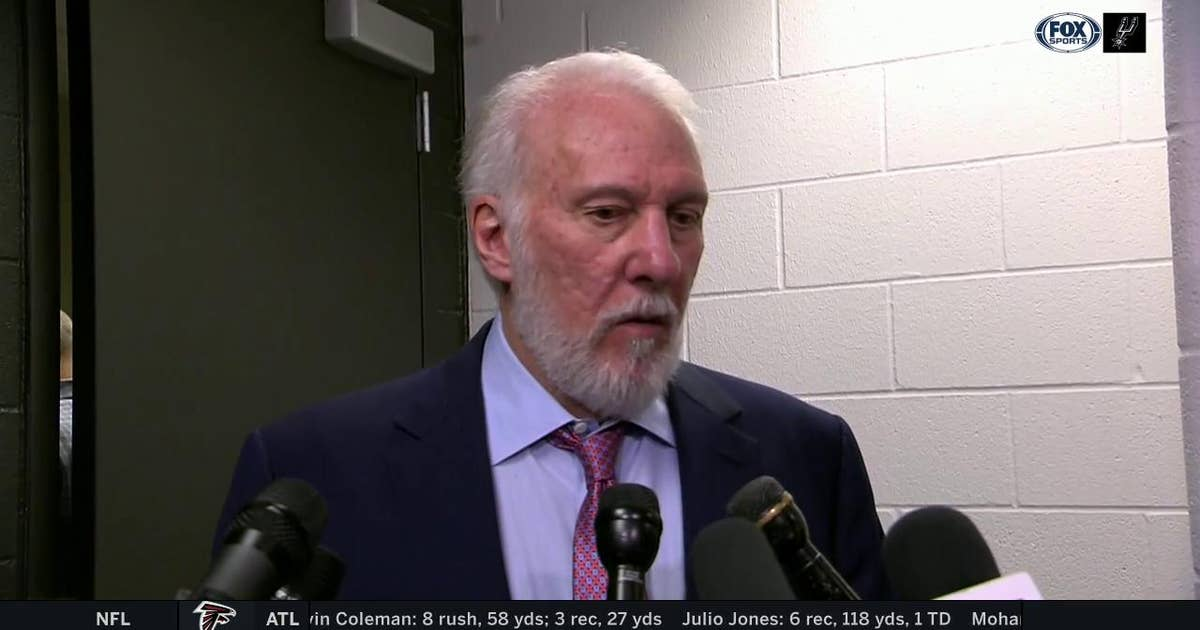 Gregg Popovich: 'We worked as hard as we could defensively'