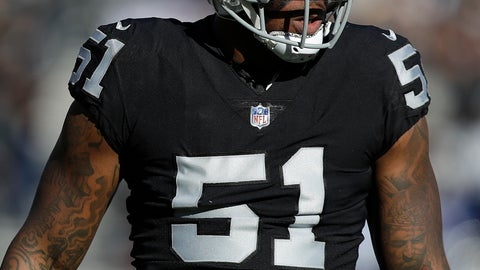 <p>               FILE - In this Dec. 3, 2017, file photo, Oakland Raiders outside linebacker Bruce Irvin (51) waits for a play by the New York Giants during an NFL football game in Oakland, Calif. The Raiders are planning to cut Irvin after the team's leading pass rusher's playing time was significantly reduced in recent weeks. A person familiar with the decision said Saturday, Nov. 3, the move should be official next week. The person spoke on condition of anonymity because the team hadn't announced the transaction. The Athletic first reported the decision. (AP Photo/Marcio Jose Sanchez, File)             </p>