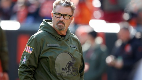 <p>               FILE - In this Nov. 11, 2018, file photo, Cleveland Browns interim coach Gregg Williams watches warm ups before an NFL football game against the Atlanta Falcons in Cleveland. Browns general manager John Dorsey says interim coach Gregg Williams will be interviewed to be team's next coach. Williams took over when Hue Jackson was fired on Oct. 29 and Dorsey has been pleased with how the team has performed with their defensive coordinator in charge. The 60-year-old Williams coached Buffalo in 2001-03. (AP Photo/Ron Schwane, File)             </p>