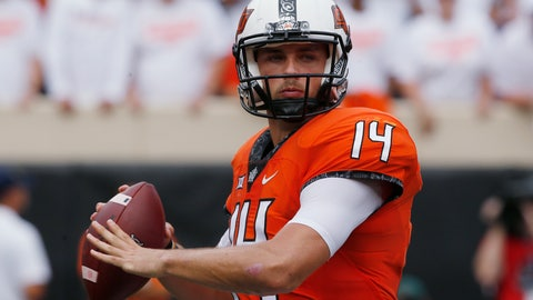 <p>               FILE - In this Sept. 15, 2018, file photo, Oklahoma State quarterback Taylor Cornelius (14) plays in an NCAA college football game against Boise State in Stillwater, Okla. Cornelius, a fifth-year senior, and Oklahoma State play at TCU this week. (AP Photo/Sue Ogrocki, File)             </p>