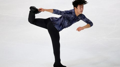 <p>               US' Nathan Chen competes in the Men Free skating program during the ISU figure skating France's Trophy, in Grenoble, French Alps, Saturday, Nov. 24, 2018. (AP Photo/Francois Mori)             </p>