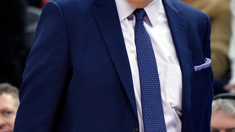 <p>               Minnesota Timberwolves head coach Tom Thibodeau reacts as his team takes on the Brooklyn Nets during the third quarter of an NBA basketball game on Monday, Nov. 12, 2018, in Minneapolis. The Timberwolves won 120-113. (AP Photo/Hannah Foslien)             </p>