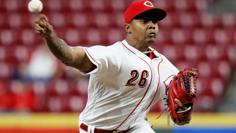 <p>               FILE - In this Sept. 10, 2018 file photo Cincinnati Reds relief pitcher Raisel Iglesias throws in the ninth inning of a baseball game against the Los Angeles Dodgers in Cincinnati. Iglesias agreed to a three-year contract guaranteeing $24,125,000, a deal that avoided arbitration. Iglesias reached a $27 million, seven-year agreement in 2014 that allowed him to void the remainder of the deal once he was eligible for salary arbitration. (AP Photo/John Minchillo, file)             </p>