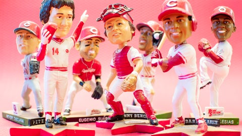 <p>               Cincinnati Reds bobbleheads are posed for display, Wednesday, Nov. 21, 2018, in Cincinnati. The Ohio Supreme Court says the Cincinnati Reds are exempt from paying tax on the purchase of bobbleheads and other promotional items that the baseball team offers to ticket buyers. (AP Photo/John Minchillo)             </p>