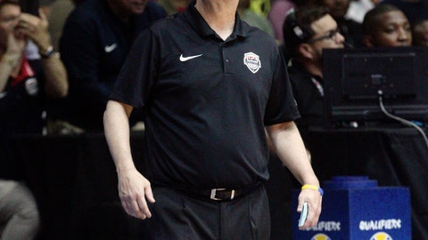 <p>               FILE - In this Sept. 17, 2018, file photo, U.S. basketball coach Jeff Van Gundy stands on the sidelines during a FIBA Basketball World Cup 2019 qualifier against Panama in Panama City. The challenge that Van Gundy accepted 16 months ago was daunting: Take G League players, and turn them into a team good enough to earn USA Basketball a spot in next year's FIBA World Cup.  (AP Photo/Arnulfo Franco, File)             </p>