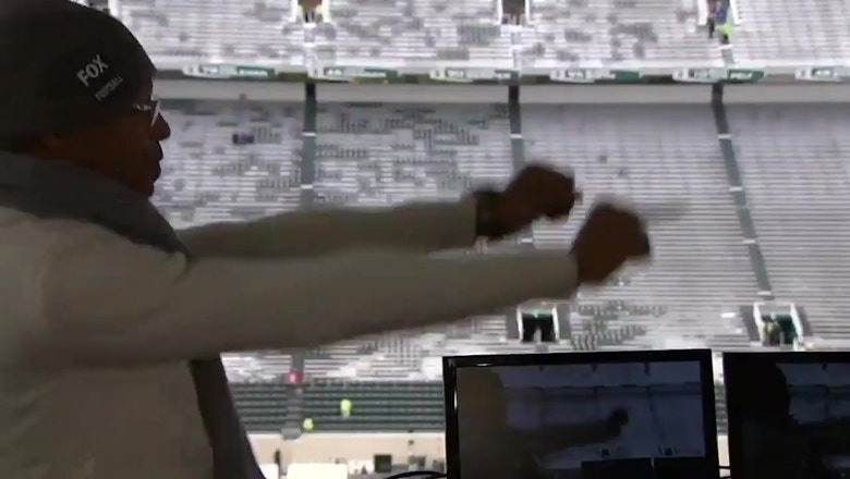 Gus Johnson might have the greatest pregame warmup routine in the business