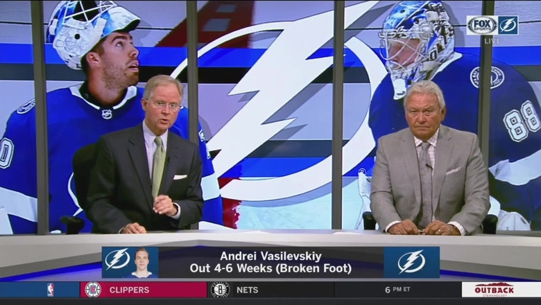 What do the Lightning do with star goalie Andrei Vasilevskiy on the shelf?