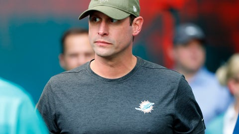 <p>               FILE - In this Nov. 4, 2018, file photo, Miami Dolphins head coach Adam Gase enters the field before an NFL football game against the New York Jets, in Miami Gardens, Fla. The Dolphins arrived at their bye week a .500 team, which is no surprise because for the past quarter century they've been a .500 franchise. Their record since 1994: 197-197. Their record this year: 5-5. Coach Adam Gase's three-year record: 21-21.If there's a middle of the pack, the Dolphins are in the middle of it. (AP Photo/Wilfredo Lee, File)             </p>