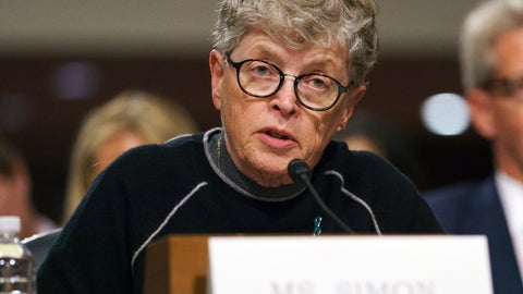 <p>               FILE - In this June 5, 2018 file photo, former Michigan State President Lou Anna Simon testifies before a Senate subcommittee in Washington. Simon has been charged with lying to police conducting an investigation of Larry Nassar's sexual abuse. Simon, who stepped down earlier this year over the scandal, was charged Tuesday, Nov. 20, 2018, with two felonies and two misdemeanors. (AP Photo/Carolyn Kaster, File)             </p>