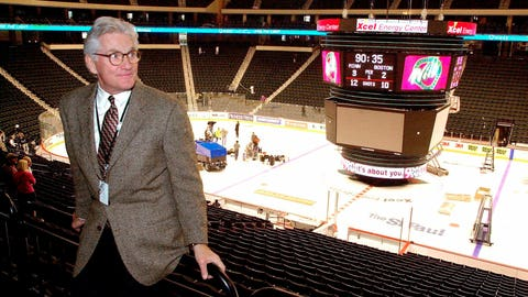 <p>               FILE - In this Sept. 28, 2000, file photo, Minnesota Wild Chairman Bob Naegele, Jr., visits the Xcel Energy Center in St. Paul, Minn., as workers prepare the arena for the exhibition season home debut of the expansion NHL hockey team. Naegele, the founding owner of the Wild, died Wednesday, Nov. 7, 2018, of complications from cancer, the team announced Thursday. He was 78. (AP Photo/Jim Mone)             </p>