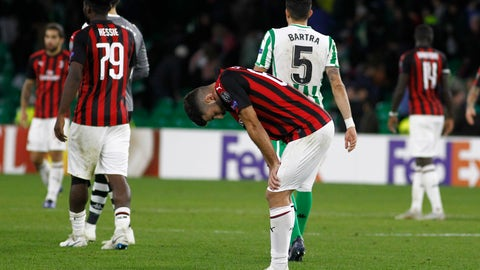 <p>               FILE - In this Thursday, Nov. 8, 2018 file photo, AC Milan's Patrick Cutrone reacts at the end of the Europa League, Group F soccer match between AC Milan and Betis, at the Benito Villamarin Stadium in Seville, Spain. AC Milan is preparing for another hearing before UEFA's club finance panel next week. In July, the Court of Arbitration for Sport in July overturned a ban imposed on the seven-time European champion for overspending. CAS said the one-year exclusion from European competition was too harsh considering Milan's recent takeover by U.S.-based hedge fund Elliott Management. (AP Photo/Manuel Gomez, File)             </p>