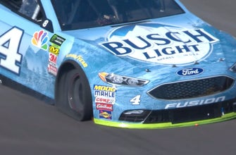 Kevin Harvick suffers flat tire and suspension damage at the end of stage one | 2018 PHOENIX