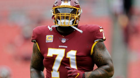 <p>               FILE - In this Oct. 17, 2017, file photo, Washington Redskins offensive tackle Trent Williams warms up prior to an NFL football game against the San Fransisco 49ers in Landover, Md. Thompson hopes he can play after missing the past six games with a fracture on each side of his rib cage. (AP Photo/Mark Tenally, File)             </p>