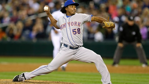 <p>               FILE - In this July 23, 2014, file photo, New York Mets closing pitcher Jenrry Mejia throws against the Seattle Mariners in the ninth inning of a baseball game in Seattle. Mejia was released by the New York Mets after serving three drug suspensions. The 29-year-old right-hander was told in July by baseball Commissioner Rob Manfred that he could return to the big leagues in 2019. Mejia was suspended for life on Feb. 12, 2016, after his third positive test for a banned steroid. The drug agreement allowed him to apply a year later for reinstatement that would be effective a minimum two years after the ban started, with the decision at the commissioner's discretion. (AP Photo/File)             </p>