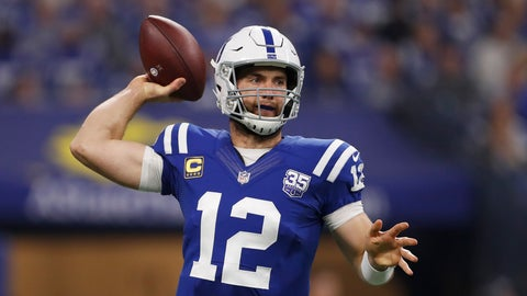 <p>               FILE - In this Nov. 18, 2018, file photo, Indianapolis Colts quarterback Andrew Luck throws during the first half of an NFL football game against the Tennessee Titans in Indianapolis. The surging Colts have averaged a little more than 33 points over their last eight games while the reeling Jacksonville Jaguars have topped 21 points once in the last two months. (AP Photo/Jeff Roberson, File)             </p>