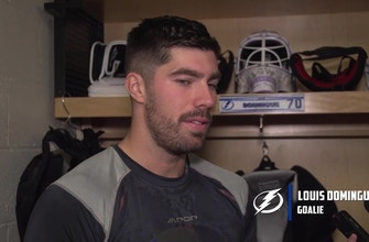 Lightning goalie Louis Domingue on stepping into No. 1 role