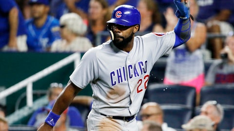 <p>               FILE - In this Aug. 6, 2018, file photo, Chicago Cubs' Jason Heyward reacts after scoring in the eighth inning of a baseball game against the Kansas City Royals at Kauffman Stadium in Kansas City, Mo. Heyward and San Francisco reliever Mark Melancon let the deadline pass from exercising opt-out provisions in their contracts.  (AP Photo/Colin E. Braley, File(             </p>