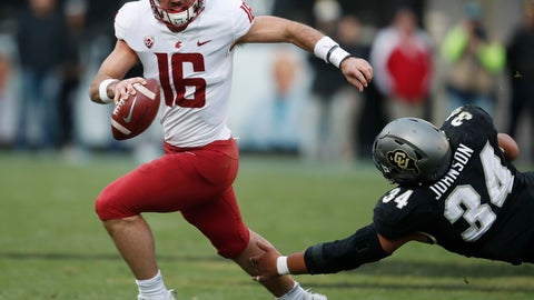 <p>               FILE - In this Nov. 10, 2018, file photo, Washington State quarterback Gardner Minshew, left, scrambles away from Colorado defensive lineman Mustafa Johnson in the second half of an NCAA college football game, in Boulder, Colo. Minshew nearly decided to spend this season at Alabama, where he almost certainly would have backed up Tua Tagovailoa the entire year. The East Carolina graduate transfer instead chose Washington State and has emerged as one of Tagovailoa's top competitors for the Heisman Trophy.  (AP Photo/David Zalubowski, File)             </p>