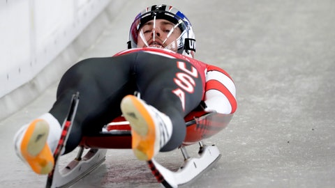 <p>               FILE - In this Feb. 9, 2018, file photo, Chris Mazdzer of the United States speeds down the start of the men's luge training run ahead of the 2018 Winter Olympics in Pyeongchang, South Korea. There are some veterans back in the red, white and blue this winter _ including the only three sliders who brought home medals from Pyeongchang, men's luge silver medalist Chris Mazdzer and the silver-medal-winning women's bobsled team of Elana Meyers Taylor and Lauren Gibbs. And there might not be a slider in the world with more on his plate this season than Mazdzer.  (AP Photo/Wong Maye-E, File)             </p>