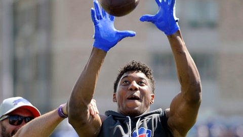 <p>               FILE - In this July 27, 2018, file photo, Buffalo Bills wide receiver Zay Jones catches a pass after practice at the NFL football team's training camp in Pittsford, N.Y.  Jones has learned the hard way there are no overnight sensations in the NFL now that he's starting to catch on in his second season. The second-round draft pick has put aside his past on- and off-field troubles in showing strides of becoming a reliable threat. Jones leads the Bills in catches and yards as Buffalo comes out of its bye week off to host Jacksonville this weekend. (AP Photo/Adrian Kraus, File)             </p>